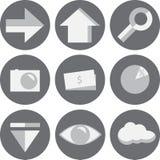 Uppsättning för 9 rengöringsduksymboler Arkivbilder