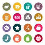 Uppsättning för shoppingtemasymbol stock illustrationer