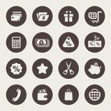 Uppsättning för shoppingtemasymbol vektor illustrationer