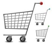 Uppsättning för shoppingvagn Arkivfoto