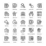 Uppsättning 6 för shoppingvektorsymboler royaltyfri illustrationer