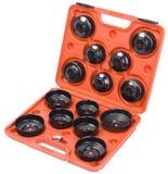 Uppsättning för skiftnyckel för olje- filter för kopptyp Royaltyfri Bild