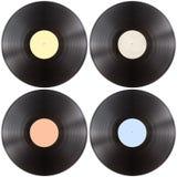 Uppsättning för skiva för Vynil grammofonrekord Fotografering för Bildbyråer