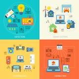 Uppsättning för Smart hemlägenhet Fotografering för Bildbyråer