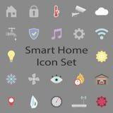 Uppsättning för Smart hemsymboler royaltyfri illustrationer