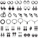 Uppsättning för smyckenobjektsymboler Fotografering för Bildbyråer