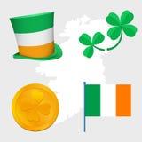 Uppsättning för St Patrick dagvektor Arkivfoton