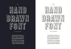 Uppsättning för stilsort för vektorhandattraktion för t-skjorta vektor illustrationer