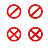 Uppsättning för stoppteckensymbol varning vektor illustrationer