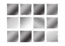 uppsättning för 12 svartvit bandmodeller Arkivfoto