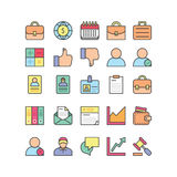 Uppsättning för symbol för affärskontor stock illustrationer
