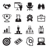 Uppsättning för symbol för affärsman Royaltyfria Foton