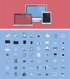 Uppsättning för symbol för datormaskinvara
