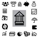 Uppsättning för symbol för finans för † för affärsï¼ arkivfoton