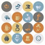 Uppsättning för symbol för helgonPatricks dag Royaltyfria Bilder