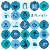 Uppsättning för symbol för helgonPatricks dag Arkivbilder