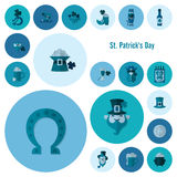 Uppsättning för symbol för helgonPatricks dag Royaltyfri Fotografi