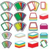 Uppsättning för symbol för modiga kort för färgvektor EPS10 Arkivbild