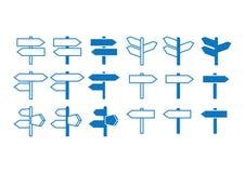 Uppsättning för symbol för riktningstecken Royaltyfri Fotografi