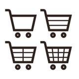 Uppsättning för symbol för shoppingvagn Royaltyfria Foton