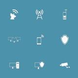 Uppsättning för symbol för telekomkommunikationsvektor Royaltyfri Foto