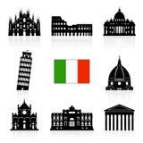 Uppsättning för symbol för vektor för Italien loppgränsmärken Royaltyfria Bilder