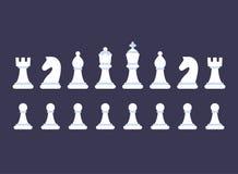 Uppsättning för symbol för schackstycken royaltyfri illustrationer