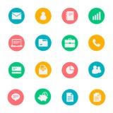 Uppsättning för symboler för affärsvektorlägenhet av 16 Arkivbilder