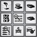 Uppsättning för symboler för bilåterförsäljare 9 Royaltyfri Bild