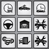 Uppsättning för symboler för bilåterförsäljare 9 Arkivbild