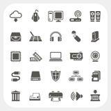 Uppsättning för symboler för datormaskinvara Fotografering för Bildbyråer