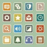 Uppsättning för symboler för datormeny Royaltyfria Bilder