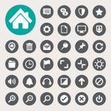 Uppsättning för symboler för datormeny Arkivbilder