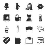 Uppsättning för symboler för kontor 16 universell för rengöringsduk och mobil stock illustrationer