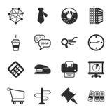 Uppsättning för symboler för kontor 16 universell för rengöringsduk och mobil royaltyfri illustrationer