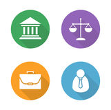 Uppsättning för symboler för laglägenhetdesign royaltyfri illustrationer