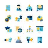 Uppsättning för symboler för meritförteckninglägenhetfärg dekorativ stock illustrationer