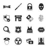 Uppsättning för symboler för säkerhet 16 universell för rengöringsduk och mobil Royaltyfria Foton