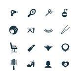 Uppsättning för symboler för skönhetsalong Fotografering för Bildbyråer