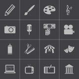 Uppsättning för symboler för svart konst för vektor Arkivbild