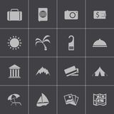 Uppsättning för symboler för vektorsvartlopp Arkivbild