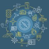 Uppsättning för symboler för navigeringöversiktsrengöringsduk Fotografering för Bildbyråer