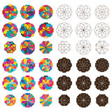 Uppsättning för symmetri för Shape stilstråle royaltyfri illustrationer