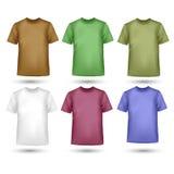 Uppsättning för T-tröjavektorillustration Arkivbilder