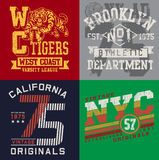 Uppsättning 2 för tappningT-tröjadiagram Royaltyfria Bilder