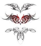Uppsättning för tatuering för kroppkonst Royaltyfria Bilder