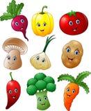 Uppsättning för tecknad filmgrönsaksamling vektor illustrationer