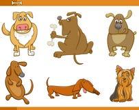 Uppsättning för tecknad filmhundtecken Royaltyfri Bild