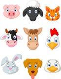 Uppsättning för tecknad filmlantgårddjur vektor illustrationer