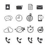 Uppsättning för telefonpostsymbol Arkivfoto